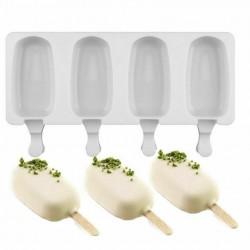 Силиконовая форма для мороженого Эскимо 48*90 мм, 4 ячееки
