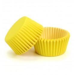 Формочки (мини) бумажные для конфет/кейкпопсов ЖЕЛТЫЙ 3см*2см (1 связка)