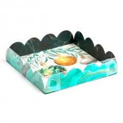Коробка для пряников 13*13*3см Бирюза (SM) 6930814