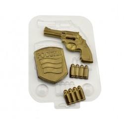 'Набор военного' пластиковая форма для шоколада (MF)