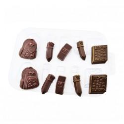 'Школьный набор' пластиковая форма для шоколада (MF)