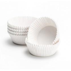 Формочки (мини) бумажные для конфет/кейкпопсов БЕЛЫЙ 3см*2см (1 связка)