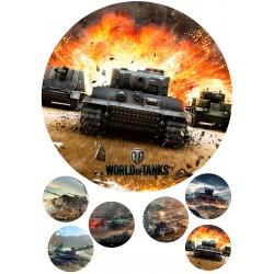 'World of Tanks1'картинка на сахарной бумаге,A4