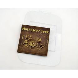 'Мышиный новый год' пластиковая форма для шоколада (MF)
