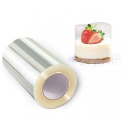 РУЛОН Лента ацетатная для торта тонкая h=8 см 200м