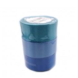 Набор атласных лент 3 шт 40мм?23м синий спектр 2611806
