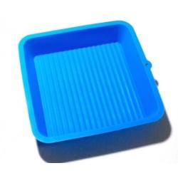 Силиконовая форма для выпечки квадратная малая 16*16*4см