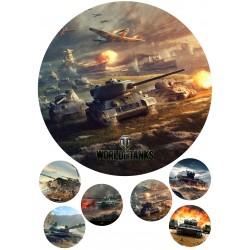 'World of Tanks2'вафельная картинка,A4
