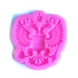 Герб России средний' молд силиконовый (розовый) (7*8см)