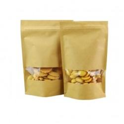 Пакет для печенья крафт с окошком,17*24см,1шт
