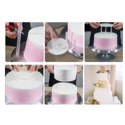 Подставка опора для верхнего яруса торта пластик (комплект) d=12