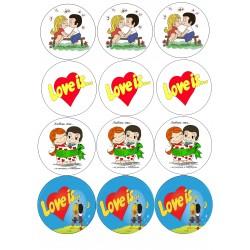 'Love is на капкейки'картинка на сахарной бумаге,A4