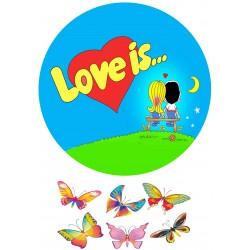 'Love is 2'картинка на сахарной бумаге,A4