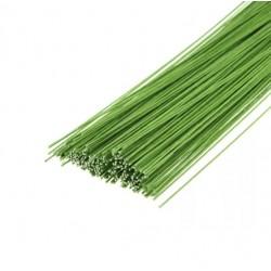 Флор.проволока тонкая №24 зеленая, с бумажной обмоткой,40 см,40шт