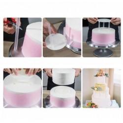 Подставка опора для верхнего яруса торта пластик (комплект) d=26