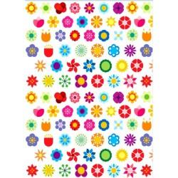 'Фон цветочки1'печать на бумаге для меренги,A4
