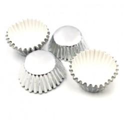 Формочки (мини) бумажные для конфет/кейкпопсов СЕРЕБРО (набор 5связок)