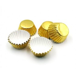 Формочки (мини) бумажные для конфет/кейкпопсов ЗОЛОТО (набор 5связок)