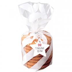 Пакет для печенья  Белая полоска 13*21*4 см 1шт