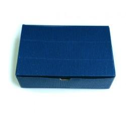 Коробка для пряников-печенья СИНИЙ гофро 18*12*5 см