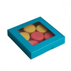 Коробка с окном, голубая, 16*16*3 (SM) 4588934