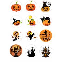 'Хеллоуин на капкейки'вафельная картинка,A4