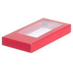 Коробка для шоколадной плитки КРАСНАЯ 160*80*17мм 060704