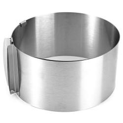 Рамка кондитерская раздвижная круглая металл ВЫСОТА 12СМ от 16-30 см 4046500