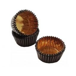 Формочки (мини) бумажные для конфет/кейкпопсов Золото-коричневые 10 связок (60-70 шт)