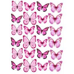'Бабочки розовые' картинка на сахарной бумаге,A4