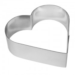 Рамка кондитерская для мусса, сердце,h=6см,ширина 23см