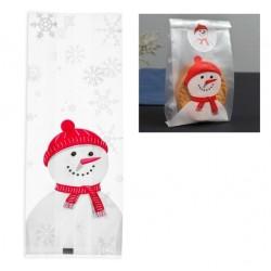 Пакетик для пряника раскладной 'Снеговик' 7*4*15см 10шт