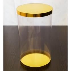 Коробка тубус дно/верх 17*21,5см ЗОЛОТО (3 части)