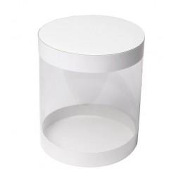 Коробка тубус дно/верх 17*21,5см БЕЛЫЙ (3 части)
